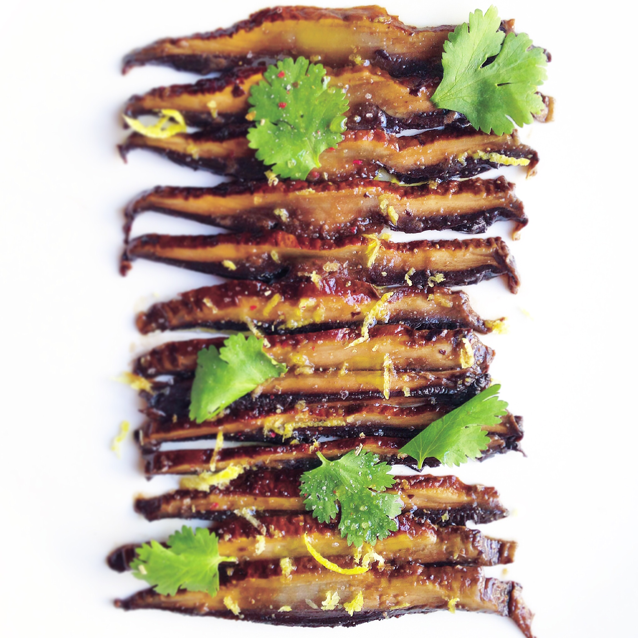 Miso-Marinated Portobello Carpaccio (Vegan) Recipe — Dishmaps