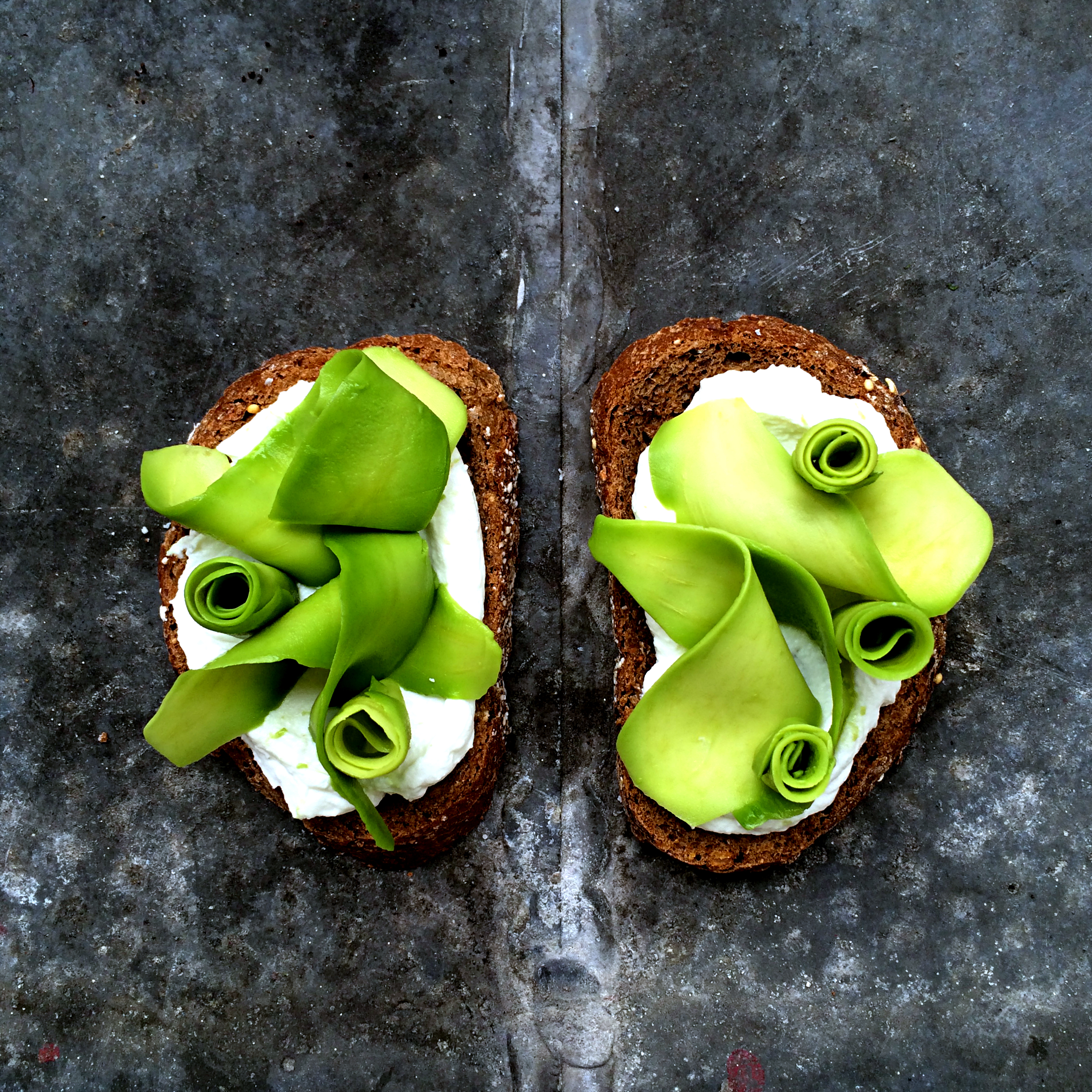 Shaved Avocado + Whipped Feta