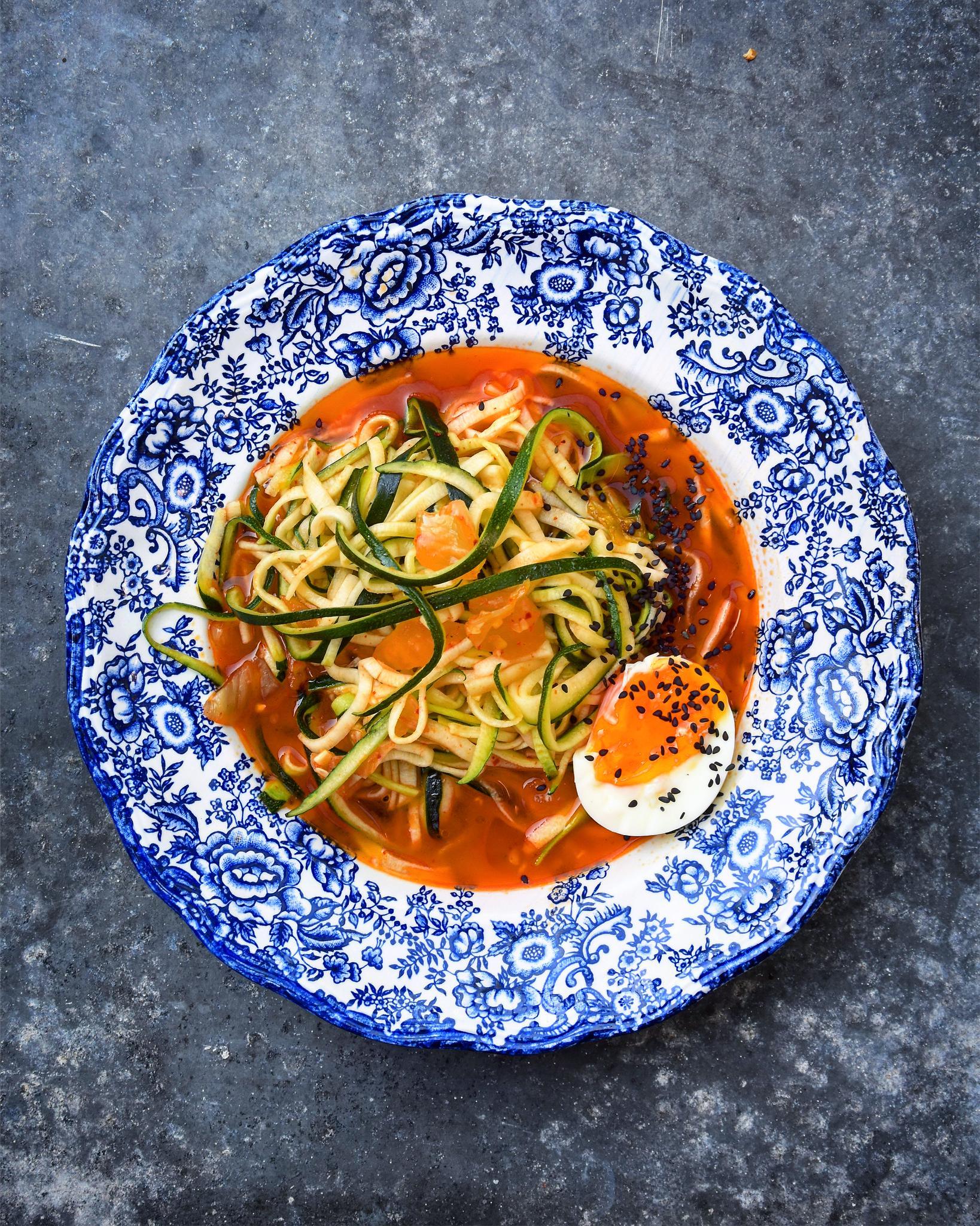 Kimchi Noodles Zucchini